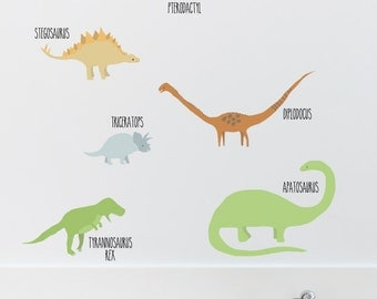Dinosaurs Removable Wall Sticker | LSB0262CLR-JMS