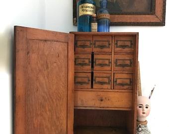 Vintage desk organizer / cabinet