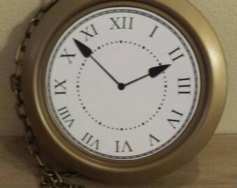 Alice in Wonderland party  decor jumbo clock pocket watch prop
