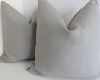 Linen Gray Pillow Cover, Gray Pillows, Pillow, Accent bed pillows, Grey Pillow Covers, Gray Linen Fabric, Light Gray Linen Pillow Covers