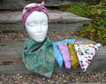 Bandana, Head Square, Cotton Scarf, cotton Bandana, head scarf, headgear, tie dye cotton scarf