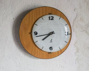 Vintage Wall Clock // 1960 French Electronic Clock // Mod Design
