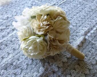 SHOP CLOSING SALE / Handmade Fabric Flower Bouquet // Alternative Bouquet // Romantic // Wedding // Bride
