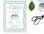 Camping Baby Shower Invitation, camper baby shower invites, adventure baby shower, couples baby shower invite, rustic camp theme baby shower