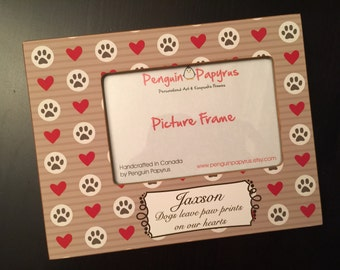 Pet Memorial Gift Pet Remembrance Gift Personalized Loss of Pet Frame Family Loss Personalized Dog Cat Wood 4x6 Picture Frame Custom Colours