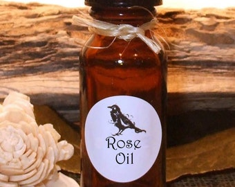 ROSE Oil- .5 (1/2 oz) Amber glass bottle.