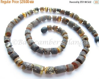 17%OFF--CHRISTMAS SALE Raw Unpolished Baltic Amber Necklace For Men/Unisex Adults