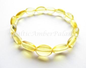 Baltic Amber Bracelet, Lemon Color