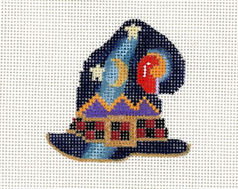 Halloween Handpainted Needlepoint- Witches hat