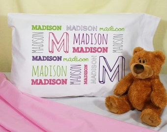 Personalized Pillowcase Name Kids Pillow Case, Personalized Pillow Case Girls, Boy Pillowcases, Personalized Kids Name