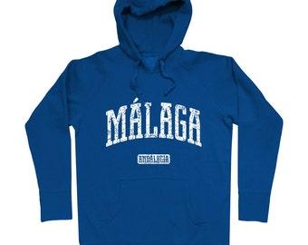 Malaga Spain Hoodie - Men S M L XL 2x 3x - Sweatshirt, Gift, Malaga Hoody, Spanish Hoodie, Marbella, Ronda, Malaga-Velez, Costa del Sol