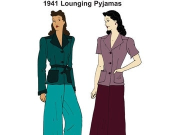RH1425 — 1941 Lounging Pyjamas
