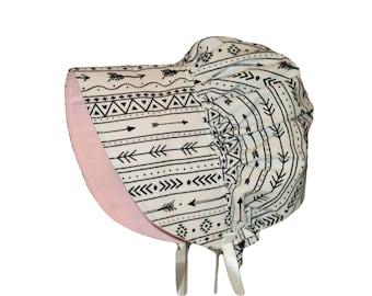 Baby Bonnet, Sun Bonnet, Baby Sun Hat, Baby Girl Bonnet, Newborn Hat, Toddler Sun Hat, Summer Hat, Cotton, Baby Gift, Baby Clothes, Arrow