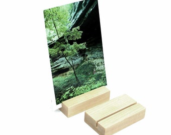 Wood Block Photo Holder, Photograph Display, Wooden Photos Holder, Postcard Holder, Print Display, Keepsake Stand, Photo Display
