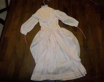 Antique Doll Dress..Bru..Jumeau..Large Doll..Good Condition..French Lace