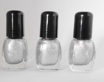 Nail Polish Metallic Titanic Silver Vegan nails  free from harsh chemicals indie nail polish shiny glossy