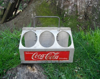 Vintage Aluminum Ccca Cola Six Pack Bottle Carrier