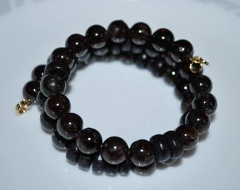Garnet Memory Wire Bracelet, Garnet Bracelet, Meditation Bracelet, Healing Stone Bracelet, Unisex Bracelet