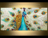 Oil Painting on canvas Peacock ORIGINAL art from Paula Nizamas ready to hang animal art