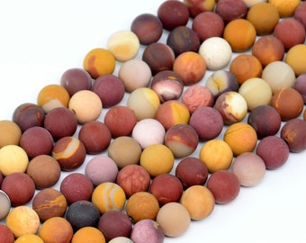 "6MM Matte Mookaite Beads Grade AAA Natural Gemstone Full Strand Round Loose Beads 15"" BULK LOT 1,3,5,10 and 50 (100275-825)"