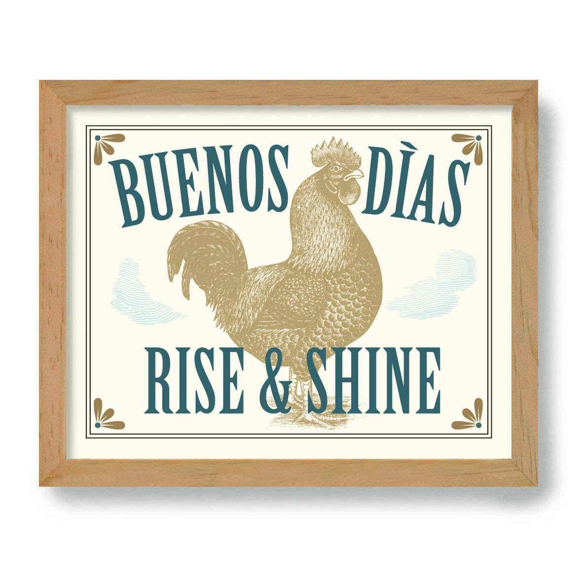 Farm Animal Kitchen Decor Buenos Dias Etsy