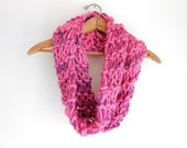 Pink Chunky Knit Cowl
