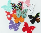 Felt Butterflies Medium, Printed felt butterflies, 10 pieces. Die Cut Shapes, Applique, Party Supply, DIY Wedding, felt shapes, felt printed