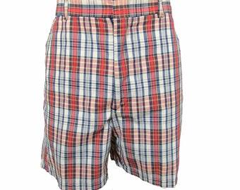 Vintage Plaid Shorts // Men's Plaid Shorts // Vintage 80s Shorts //  80s Plaid Shorts // Mens Vintage Shorts 34