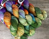 classic {sock} | BLACKENED RAINBOW | ready to ship | hand dyed yarn | merino nylon