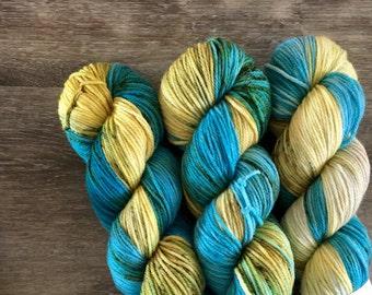 SALE superwash {worsted}   QUARRY   ready to ship   hand dyed yarn   superwash merino