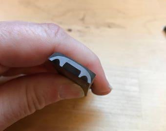 Tool Destash Item #9 Handmade Metal Stamp, Half Circle Border