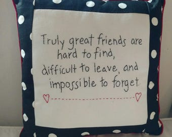 Truly great friends pillow