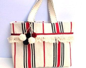 Carpet bag, woven, handmade bag, farmers' market bag,beach bag, shoppers bag,