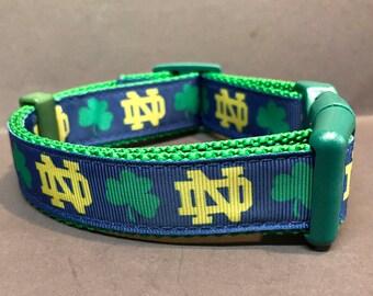 Shamrock Irish inspired Dog Collar