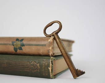 Antique Brass Skeleton Key - Gatekeepers Key - Vintage Skeleton Key