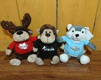 Personalized Stuffed Animals With Name Or Message on TShirt