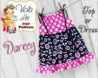 Darcey Girls Dresses, Girls Pillowcase Dress Patterns, Ruffles. Girls Dress Sewing Pattern, pdf. Toddler Sewing Pattern. Pdf Sewing Pattern