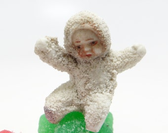 1930's German Snow Baby, Tiny Antique Snowbabies