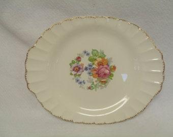 "Limoges American Guild Edge Platter ""American Rose"""