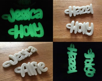 3D Glow in the Dark Children's Names