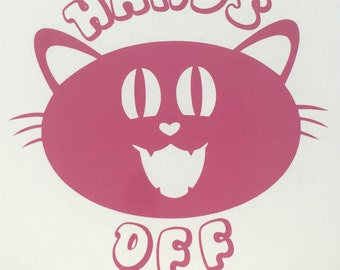 Hands Off Pink Pussy Decal