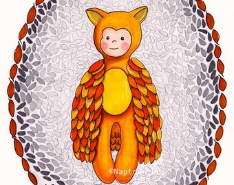 Owl Print- Be Free 8 x 10 owl art, nursery art digital download