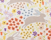 Rabbits, Bunny Run by Alexander Henry, Farm Fabric, Rabbit Fabric, Animal Farm, Bunny Fabric, Spring Fabric, 01085A