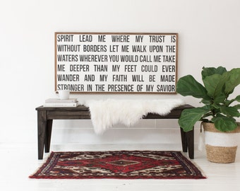 Spirit Lead Me - Wooden Sign
