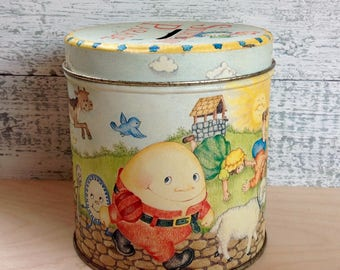 Vintage STORYBOOK PARADE  tin/coin bank
