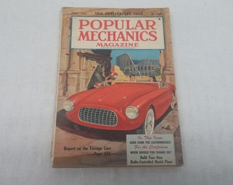 Popular Mechanics April 1952 - Report on The Foreign Cars, Here come the Leathernecks - Interesting Articles and Vintage Ads