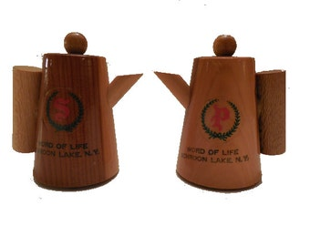 Wooden Salt and Pepper Shakers,  FREE SHIPPING