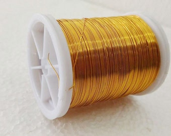 Craft supply Copper wire, 28 Gauge wire, gold craft wire, 50 meters (55 yards) craft wire, jewelry making, artistic wire, Beading Wire