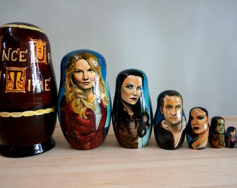 Set of Eight Once Upon a Time Nesting Dolls