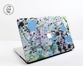 January Sale Paint splat Design in Green Black and Blue  MacBook Hard Protective Case for MacBook Pro Air Air Retina and Pro Retina